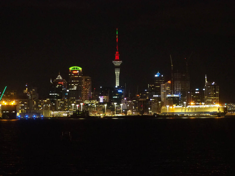 Auckland and Harbour at Night 1