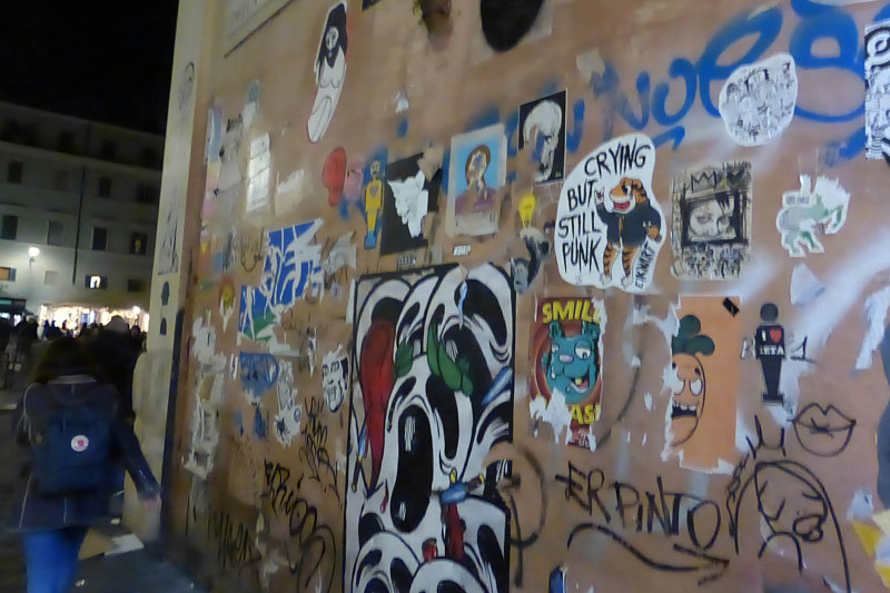 But there was graffiti everywhere, and everyone smoked - so many people smoked.