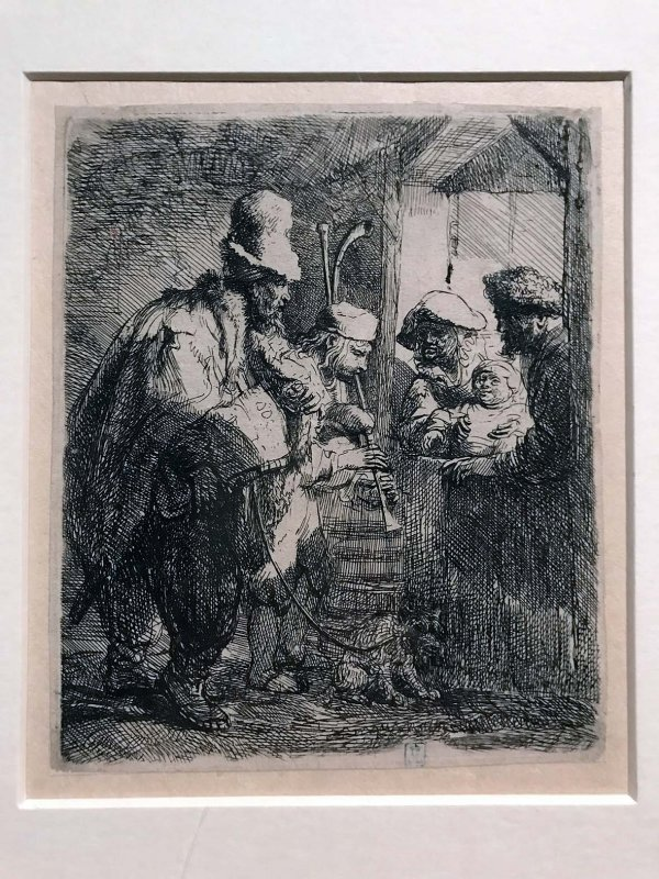 The Strolling musicians (1635) - Rembrandt - 8242