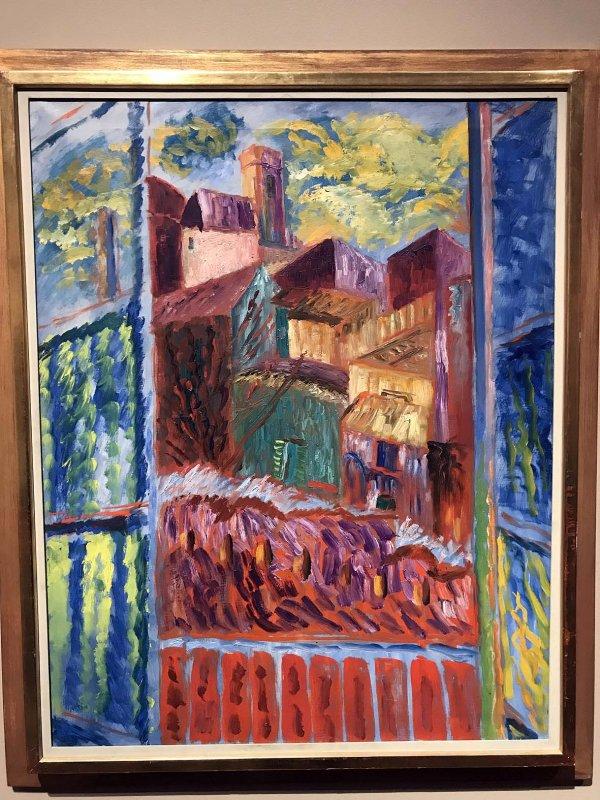 View through a Window, St Paul (1934) - Sigrid Hjertén - 9935