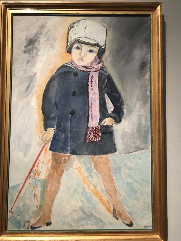 Iván in a Snowball Hat (1918) - Sigrid Hjertén - 0081