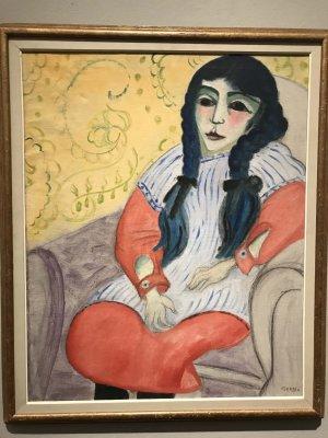 Elsa, Girl with Plaits (1918) - Sigrid Hjertén - 0079