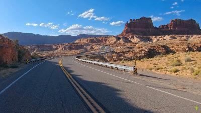 Moto Guzzi Crossing the Colorado River