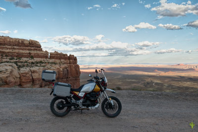Moki Dugway on a Moto Guzzi V85TT