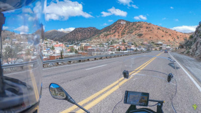 Riding through Historic Bisbee, AZ