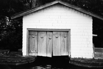 a boathouse