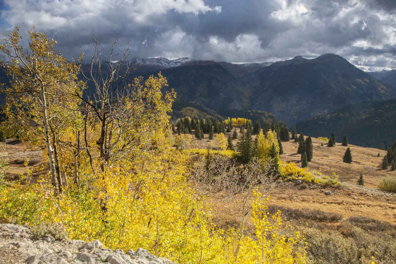 Hints Of Distant Mountain Snow On The San Juan Scenic Byway, Colorado