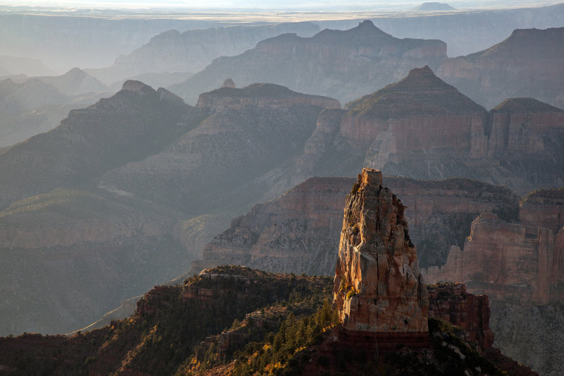 Sunrise At Imperial Point, North Rim Of The Grand Canyon, Arizona