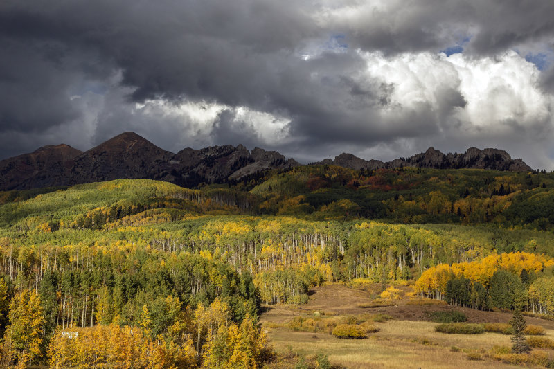 Approaching Storm Over Kebler Pass, Colorado