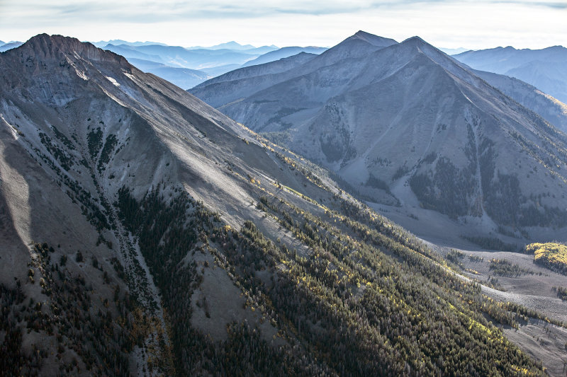 Mountain Layers: Aerial Capture East Of Gunnison, Colorado