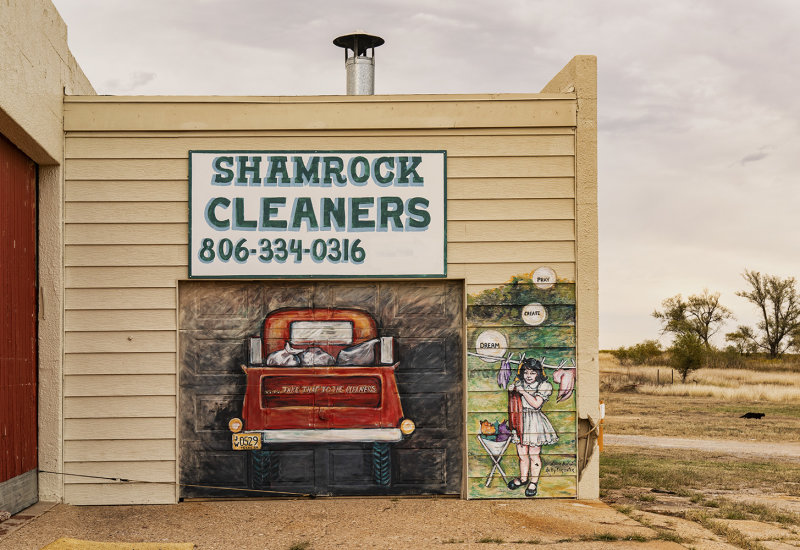 A former Gas Station Utilized By A Cleaners