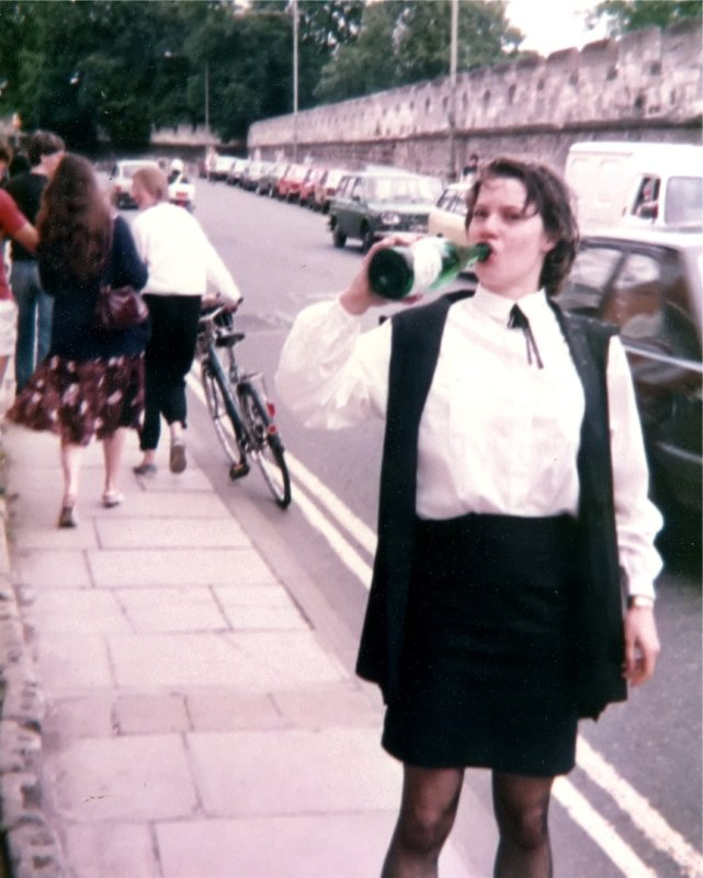 1984 after Janets finals Longwall St Oxford