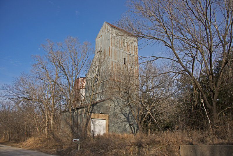 Wakarusa, Kansas Old Wood Grain Elevator.
