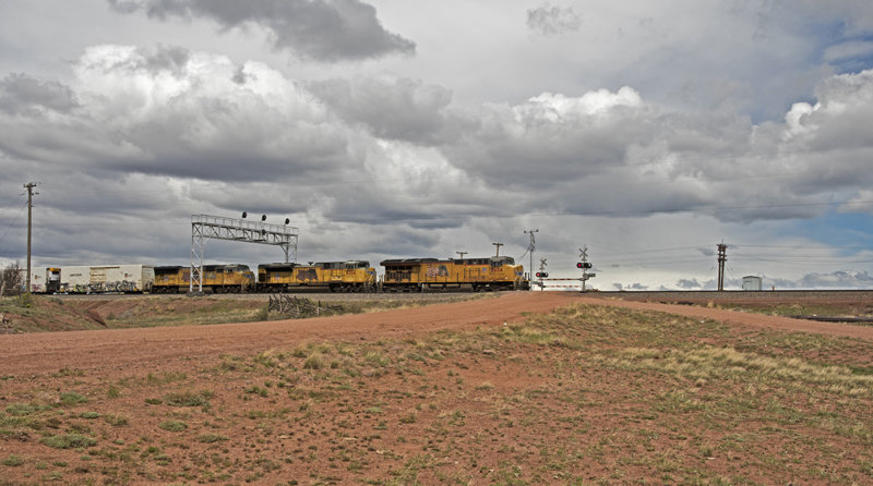 Union Pacific East Bound Manifest Freight-Hermosa, Wyoming.