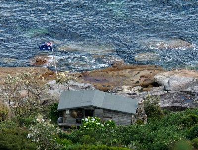 The best shack, flag flying