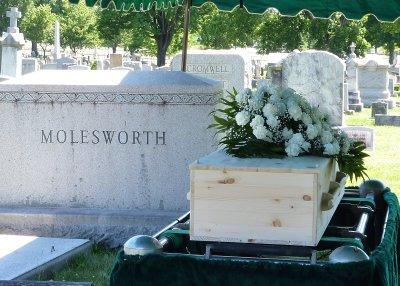 Rich's wife Beth had chosen a beautiful pine casket