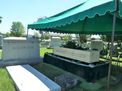 We drove together to the burial site, at the Molesworth family plot.