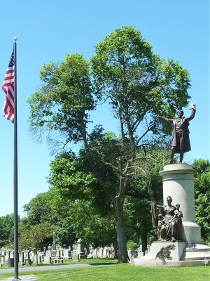 Francis Scott Key Memorial, near the cemetery entrance/exit