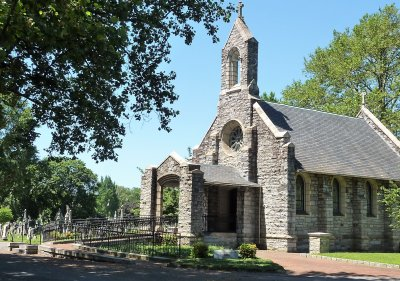 We gathered at the Stone Chapel inside the old, historic Mt. Olivet Cemetery.