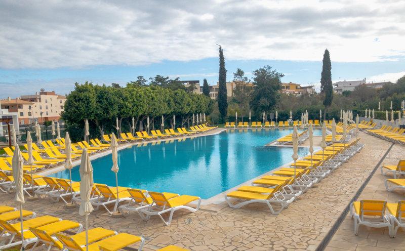 Pool side at the Villa Petra