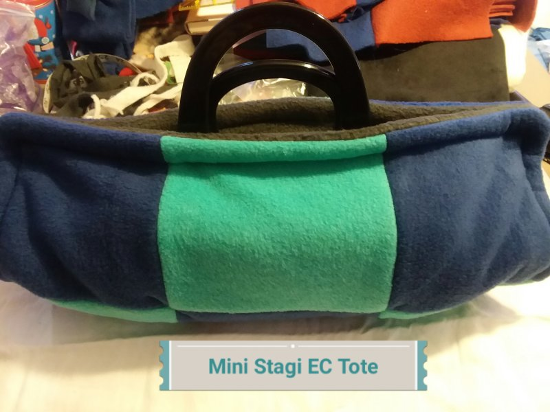Fleece tote for my mini Stagi English Concertina