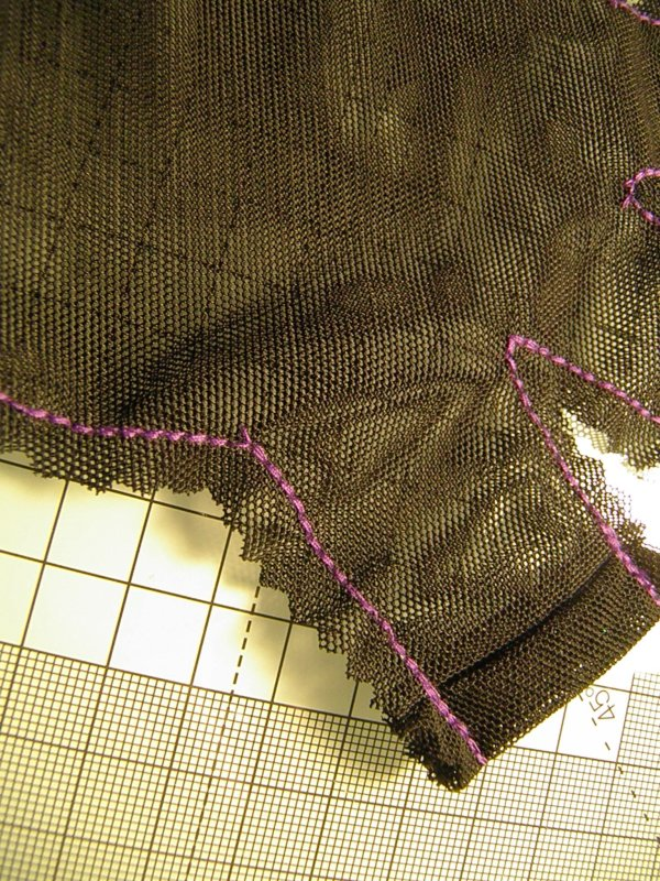 Close-up of a mesh  glove