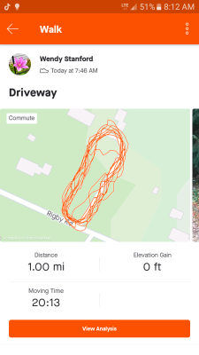 My first try at using the STRAVA app