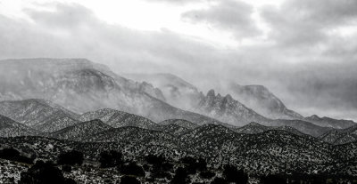 Creeping Clouds Over the Sandias