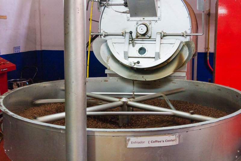 Cooling The Roasted Coffee Beans