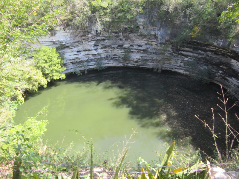 60m in diameter and 35m deep