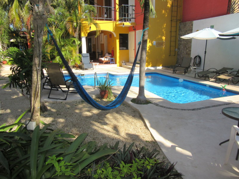 Rooms around the pool