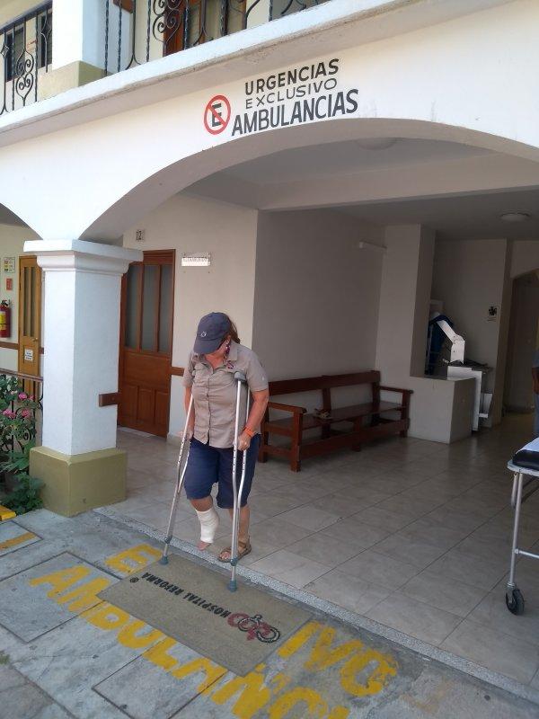 Crutches for a week