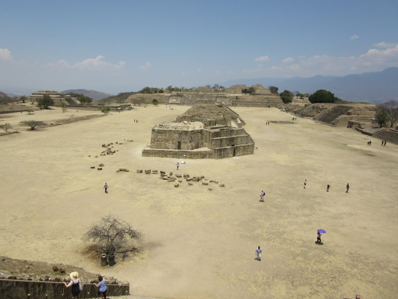 View from the top of Plataforma Sur towards the Gran Plaza