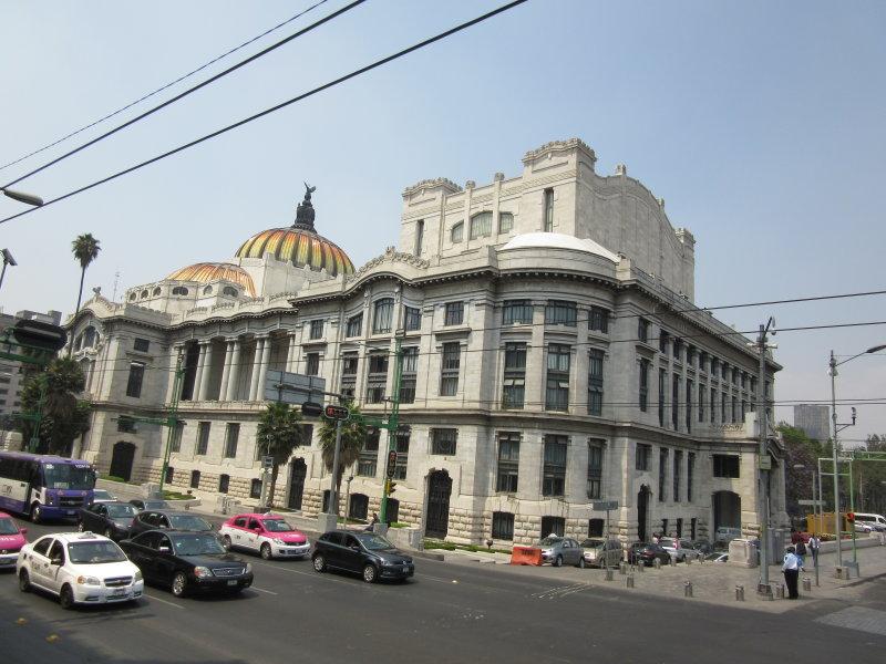 Back of the Palacio de Bellas Artes