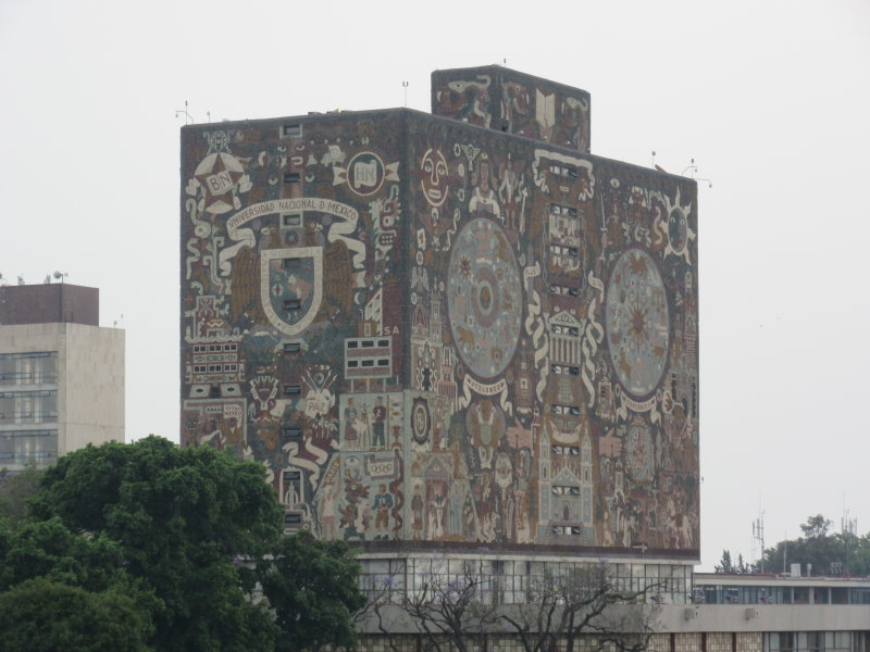 University of Mexico - Central Library - covered in mosaics