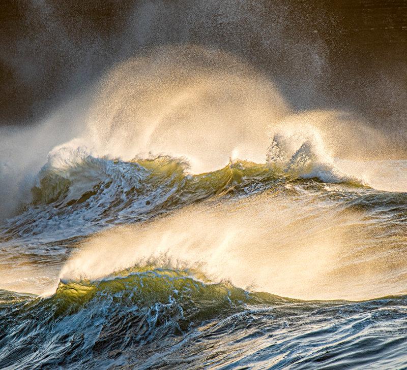 Wild Atlantic Waves at Dusk