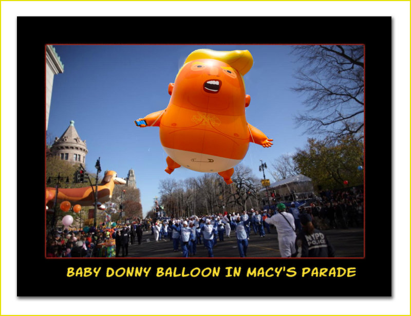 Baby Donny Balloon In Macys Day Parade