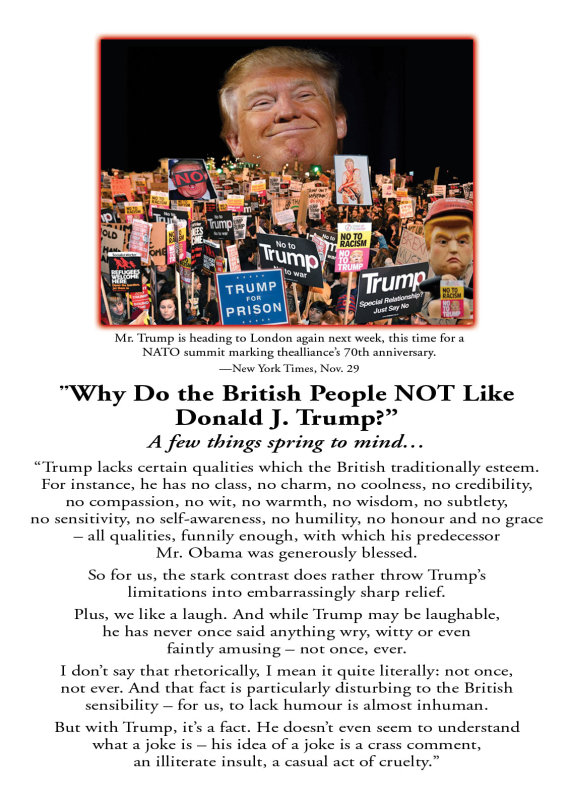 Why Dont The British Like Trump?