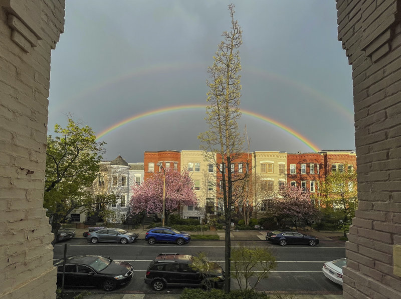 Capitol Hill rainbows