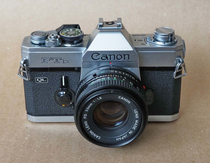 The manual Canon FTB (1971); actually it is version FTbn, released in 1973 with minor changes compared to the 1971 version.