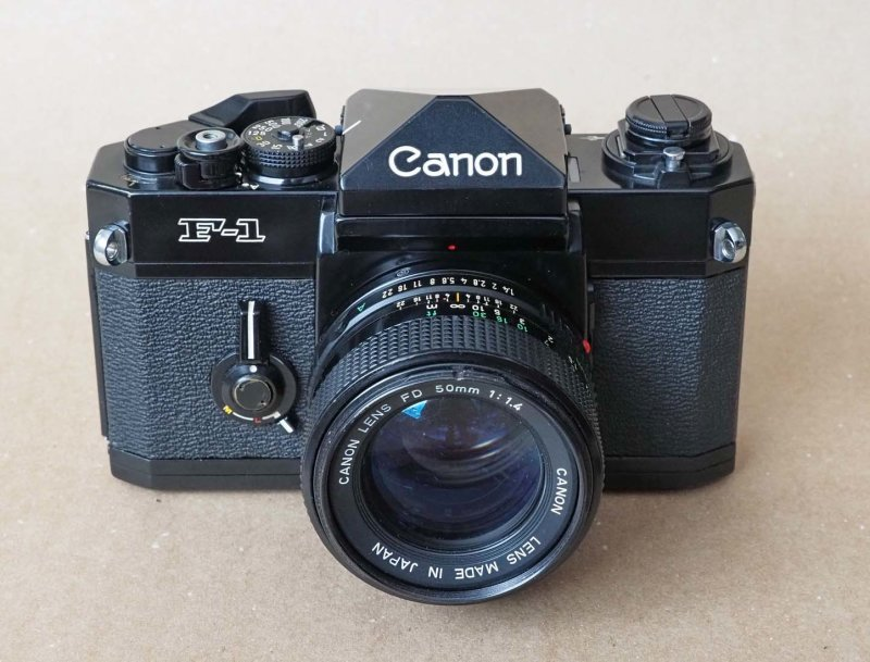 The Canon F1; this one was released in 1976; it is very similar to the first version of 1971.