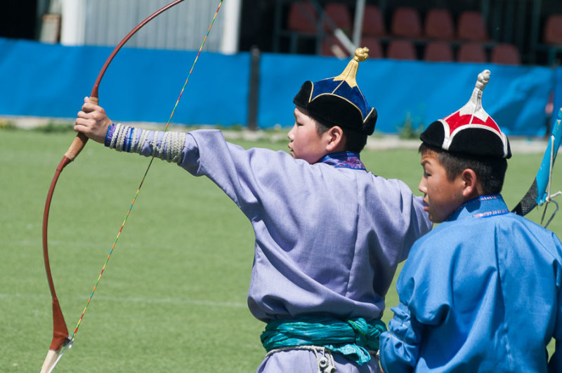 Archery practice in Ulaanbaatar