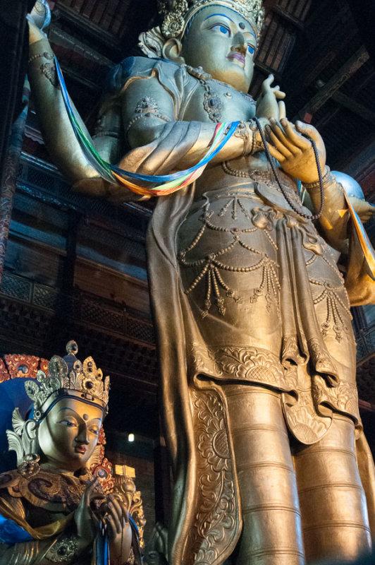 26-metre statue of the deity Migjid Janraisig at Gandan Khiid