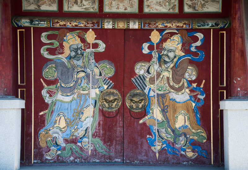 Pavilion door at the Winter Palace of the Bogd Khan, Mongolia