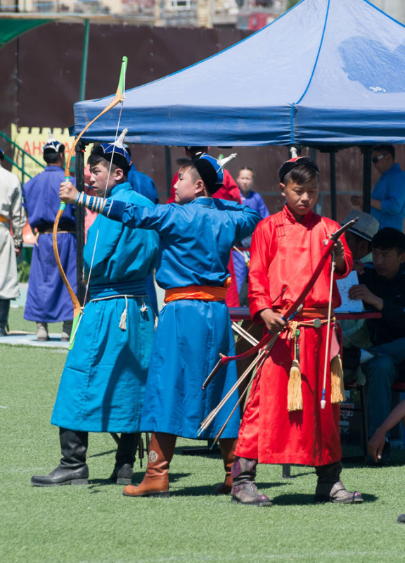 Archery practice, Ulaanbaatar, Mongolia