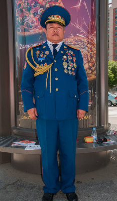 Full dress uniform! Ulaanbaatar, Mongolia