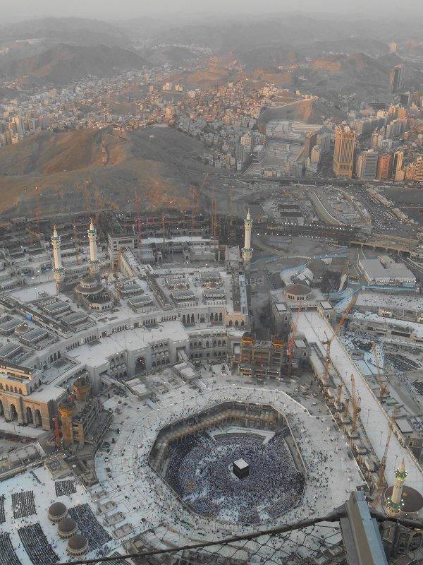 Masjid Al-Haram and city view from Clock Tower.jpg