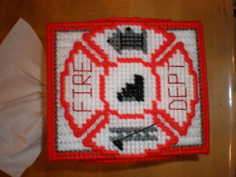 Fire Dept Tissue Box