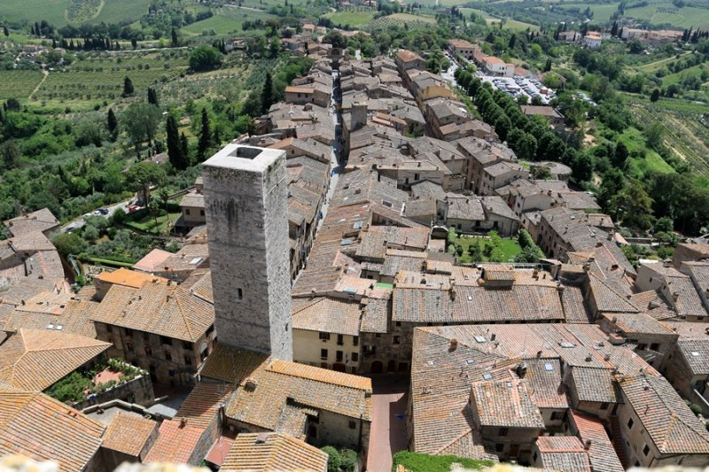 San Gimignano. View from the top of Torre Grossa