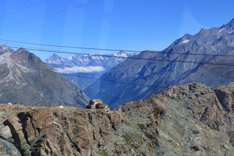 Zermatt. View from the Cable Car to the Klein Matterhorn